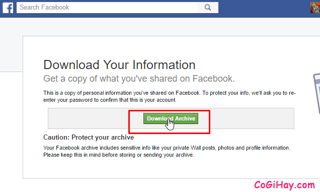 Download Archive facebook