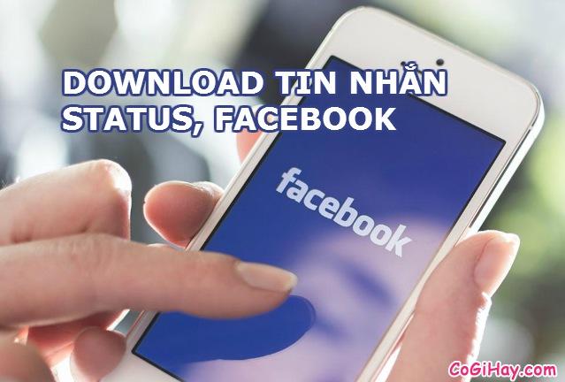 Tải toàn bộ tin nhắn,status Facebook để xem Offline