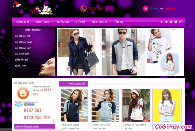 mẫu website bán hàng miễn phí blogger