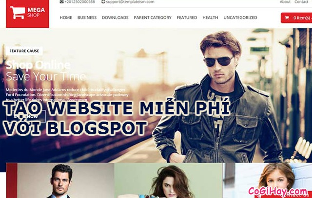 Cách đăng ký website/blog miễn phí với Blogger