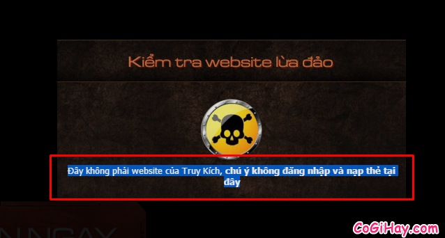 phát hiện website giả mạo truy kích