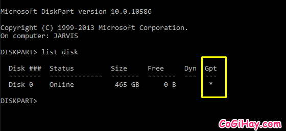 Chuyển ổ đĩa từ MBR sang GPT thành công