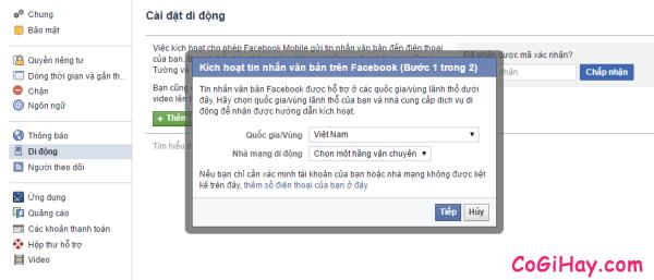 Hình 4 - Cách đăng tin Facebook bằng tin nhắn