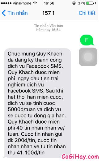 Hình 6 - Cách đăng tin Facebook bằng tin nhắn