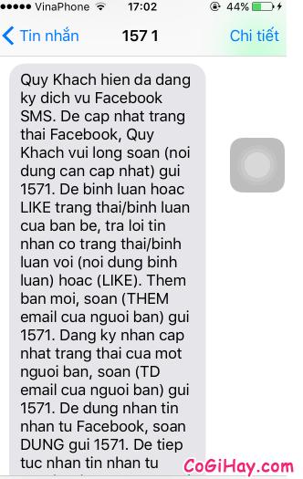 Hình 8 - Cách đăng tin Facebook bằng tin nhắn