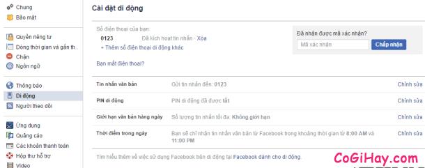 Hình 11 - Cách đăng tin Facebook bằng tin nhắn