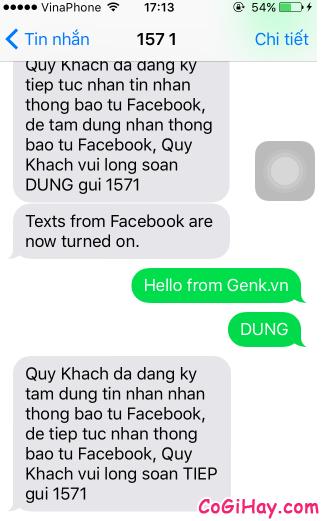 Hình 14 - Cách đăng tin Facebook bằng tin nhắn