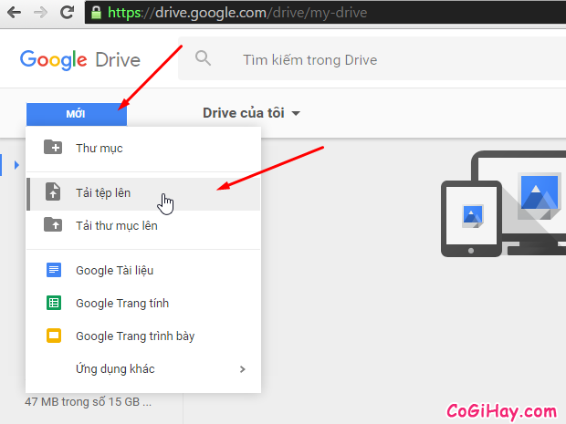 tải tệp word, excel nhiễm virus lên google drive