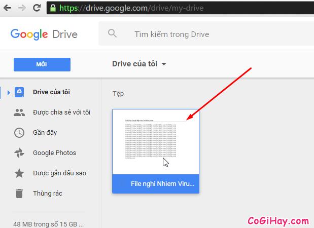 mở file word hoặc excel trên google drive