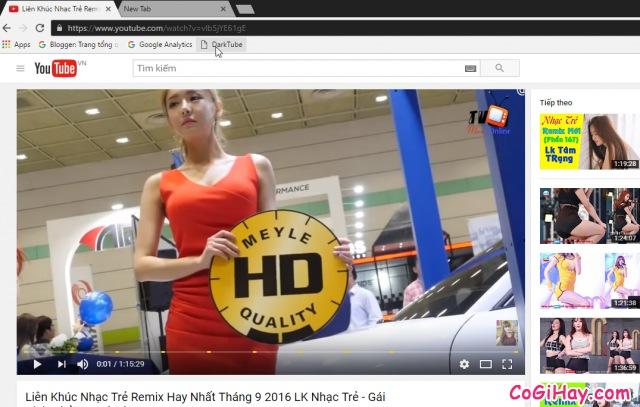 giao diện mặc định của YouTube