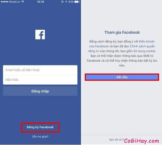 Hướng dẫn đăng ký tài khoản Facebook trên iPad và iPhone + Hình 2