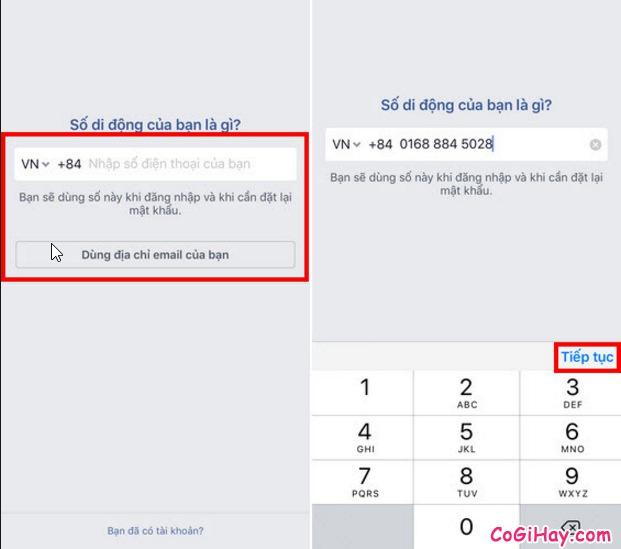 Hướng dẫn đăng ký tài khoản Facebook trên iPad và iPhone + Hình 3