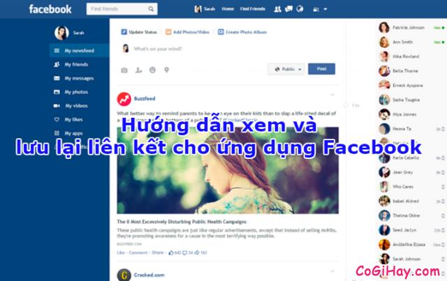 Hướng dẫn xem và lưu lại liên kết cho ứng dụng Facebook + Hình 1