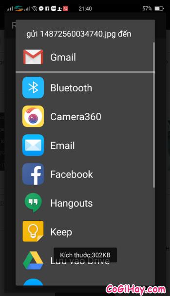 hoàn tất đổi kích thước ảnh trên Android