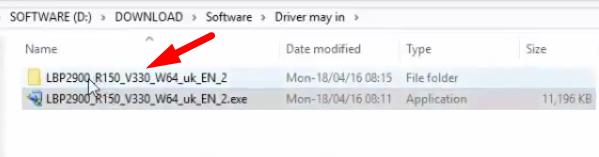 giải nén file cài đặt canon lbp 2900 driver