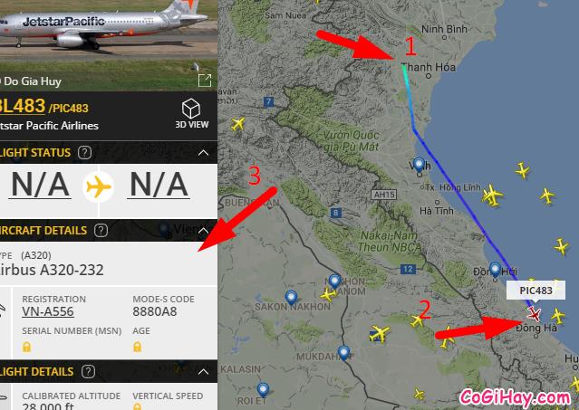 đã xác định vị trí máy bay BL483 của jetstar