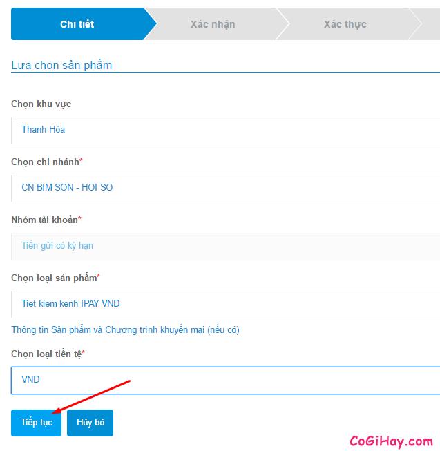 lựa chọn sản phẩm gửi tiết kiệm Vietinbank ipay