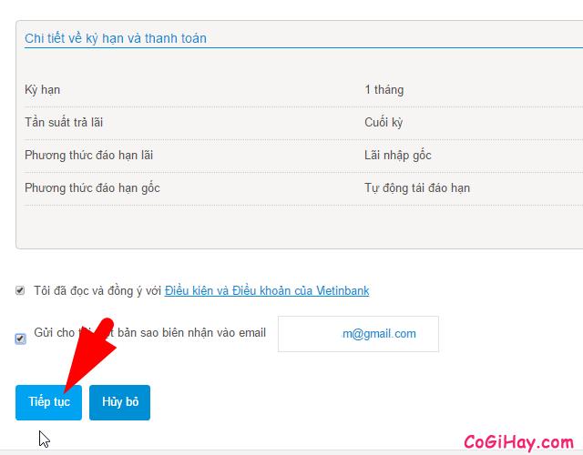 gửi tiết kiệm online với vietinbank ipay