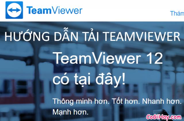 Cách tải TeamViewer – Phần mềm điều khiển máy tính