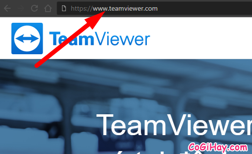 vào trang chủ teamviewer