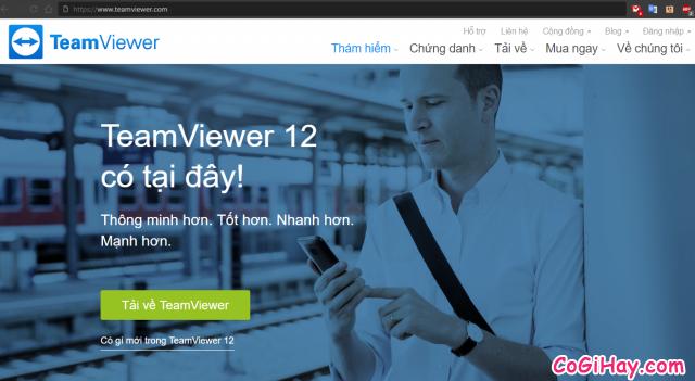 trang chủ download teamviewer