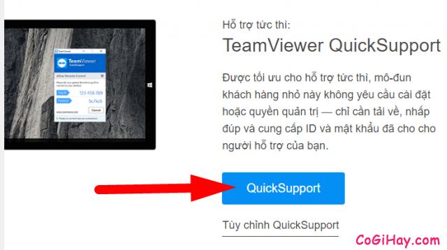 tải bản teamviewer quicksupport