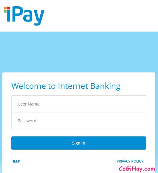 đăng nhập vào Vietinbank iPay