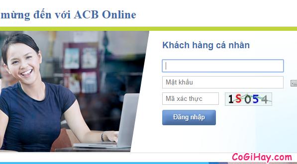 đăng nhập vào acb online