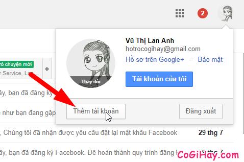 Sử dụng tính năng thêm tài khoản của Google - hình 3