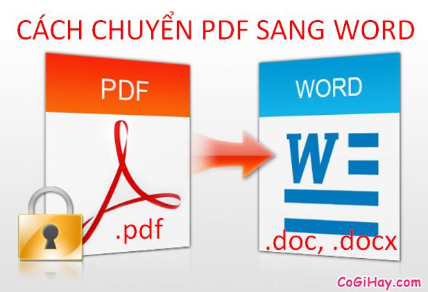Cách chuyển PDF sang Word với định dạng .doc hoặc .docx