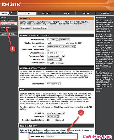Hướng dẫn mọi người cách đổi mật khẩu Wifi D-Link VNPT FPT VIETTEL + Hình 5