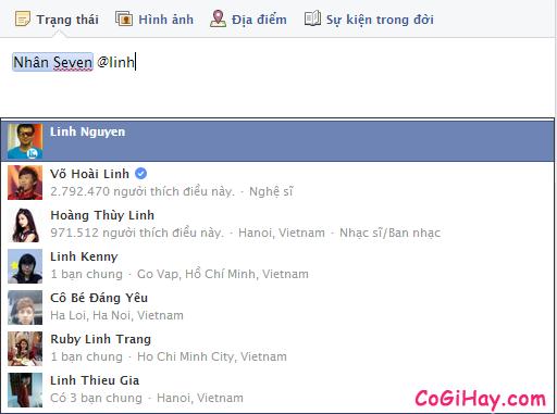 Hướng dẫn tag bạn bè vào bình luận trạng thái trên Facebook + Hình 3