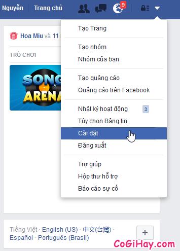 ớng dẫn tắt chế độ tự động phát video clip cho Facebook + Hình 2