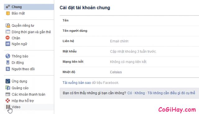 ớng dẫn tắt chế độ tự động phát video clip cho Facebook + Hình 3