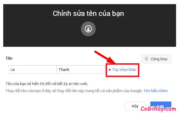 Hướng dẫn thay đổi tên hiển thị cho tài khoản Gmail, EMail + Hình 4