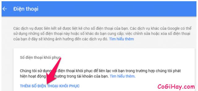 Cách thêm số điện thoại mới để khôi phục tài khoản Gmail, Email + Hình 5