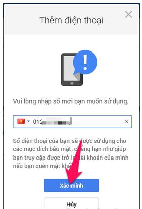Cách thêm số điện thoại mới để khôi phục tài khoản Gmail, Email + Hình 7