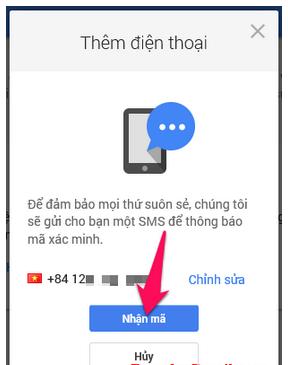 Cách thêm số điện thoại mới để khôi phục tài khoản Gmail, Email + Hình 8