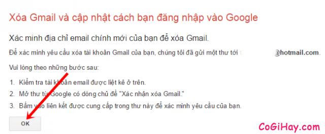 Các bước để xóa tài khoản Email, Gmail khi không sử dụng nữa + Hình 9