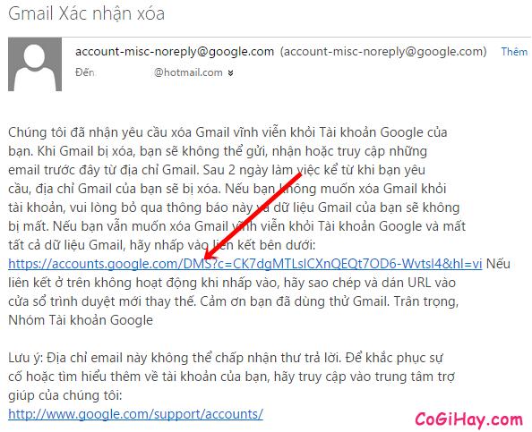 Các bước để xóa tài khoản Email, Gmail khi không sử dụng nữa + Hình 11