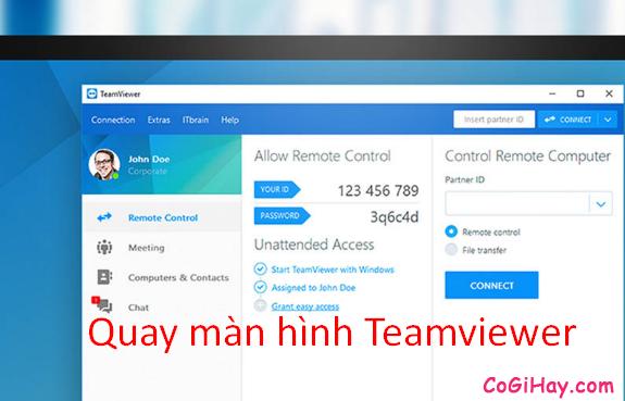Cách quay màn hình Teamviewer và xuất file tvs ra avi, mp4
