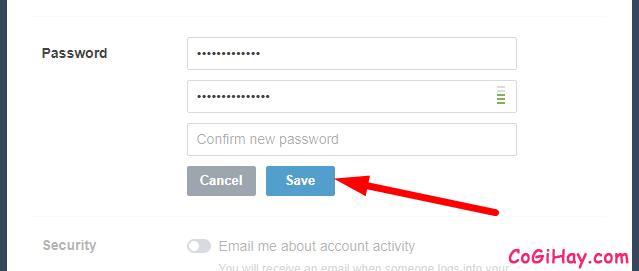 nhập lại mật khẩu tumblr mới lần nữa