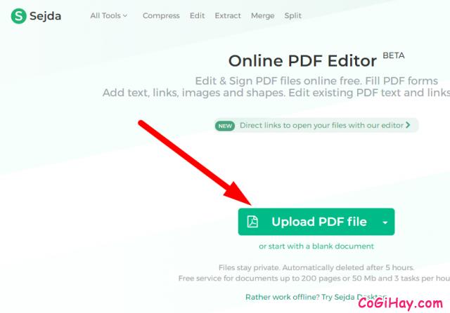 chọn file pdf cần chỉnh sửa