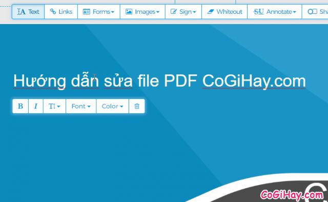 thêm nội dung vào file PDF, chỉnh sửa PDF