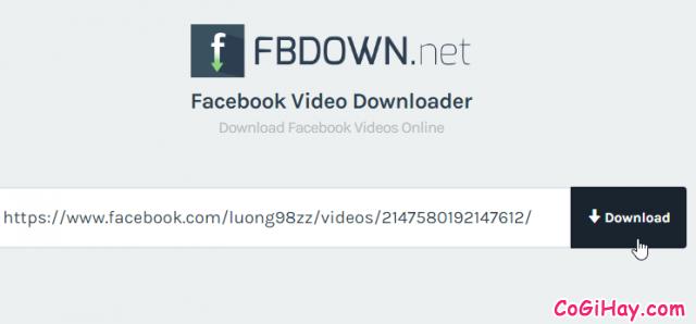 tiến hành xuất file video từ facebook