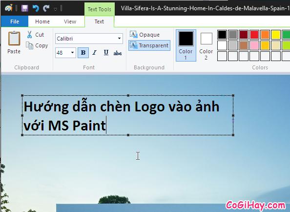 Cách chèn Logo vào ảnh nhanh với MS Paint có sẵn