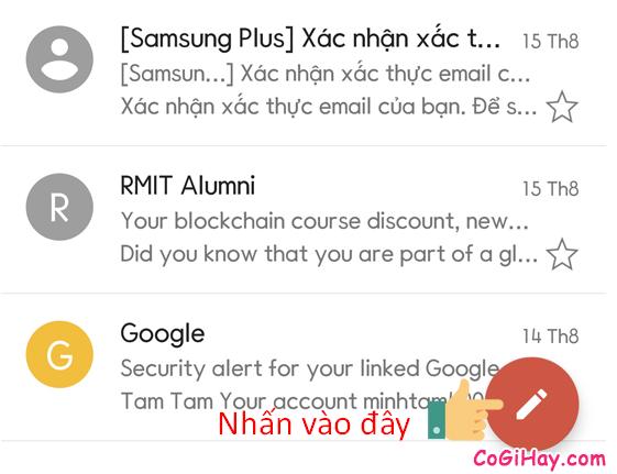 mở trình soạn email trên Gmail