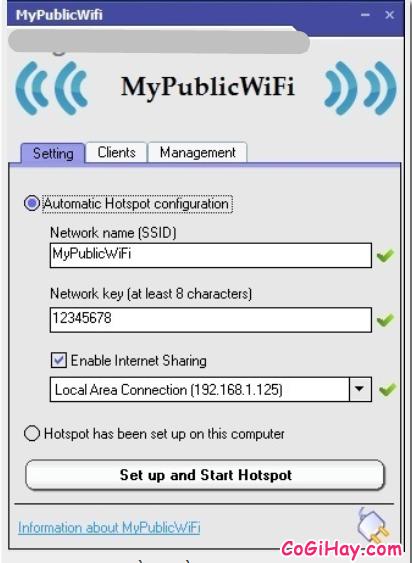 Cách phát WIFI trực tiếp từ máy tính với phần mềm My Public WiFi + Hình 8