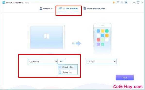 Sao lưu dữ liệu từ điện thoại iPhone, iPad sang Laptop với MobiMover Free + Hình 3
