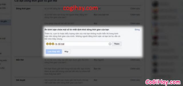 Hướng dẫn chặn những câu bình luận không hay Facebook cá nhân + Hình 10